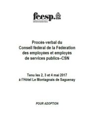 Procès-verbal du Conseil fédéral 2017