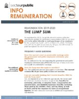 Info Remuneration – The Lump Sum, March 26, 2019