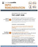 Info Remuneration – The Lump Sum, March 26, 2019