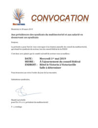 Convocation Multisectoriel
