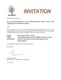 Invitation Multisectoriel (English version)