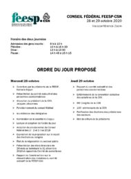 Ordre du jour CF 2020
