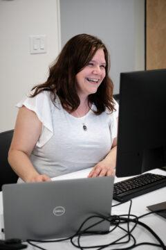 Stéphanie Fournier, employée de bureau