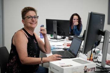 Isabelle Bédard et Isabelle Cauchon, employées de bureau
