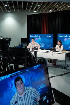 Benoit Malenfant, coordonnateur de la FEESP, et Dominique Montpetit, coordonnatrice de la FEESP