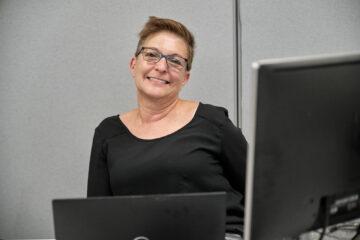 Isabelle Bédard, employée de bureau