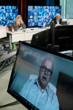 Denis Savard, qui quitte la présidence du Secteur municipal pour partir à la retraite