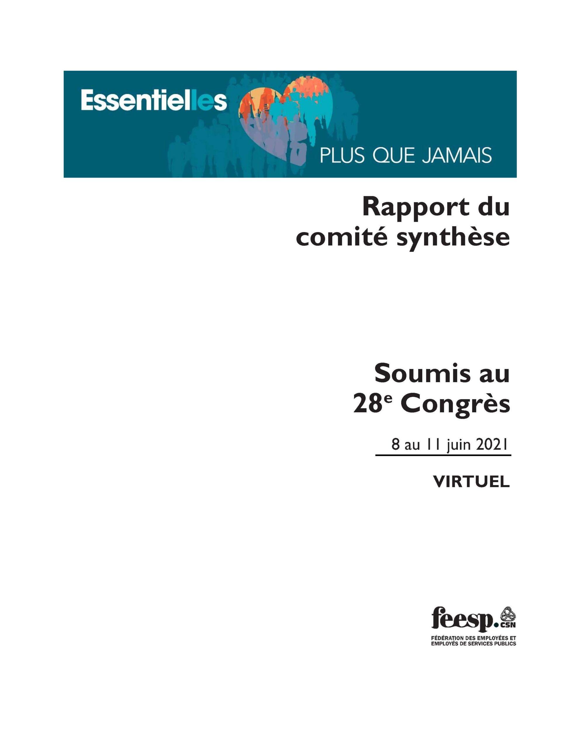 Rapport comité synthèse 2021