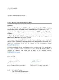 Message from the Chief Election Officer